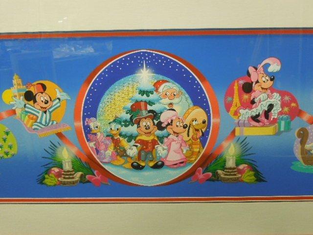 Framed Gouache Mickey & Friends Christmas - 2
