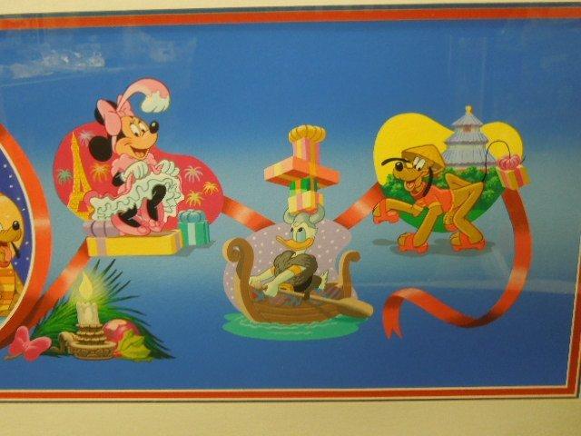 Framed Gouache Mickey & Friends Christmas - 4
