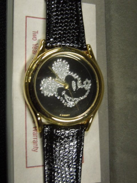 Disney Pedre MM Watch With Crystal Face