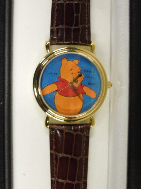 Disney Time Work Pooh Watch + original art