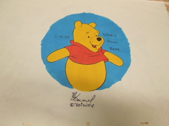Disney Time Work Pooh Watch + original art - 3