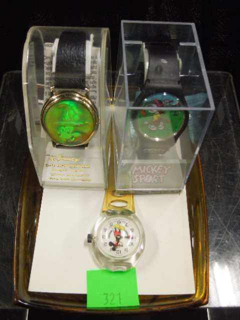 3 Disney MM Wrist Watches