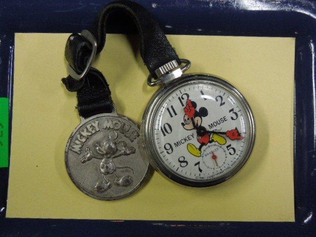 Vintage Bradley Mickey Mouse Pocket Watch