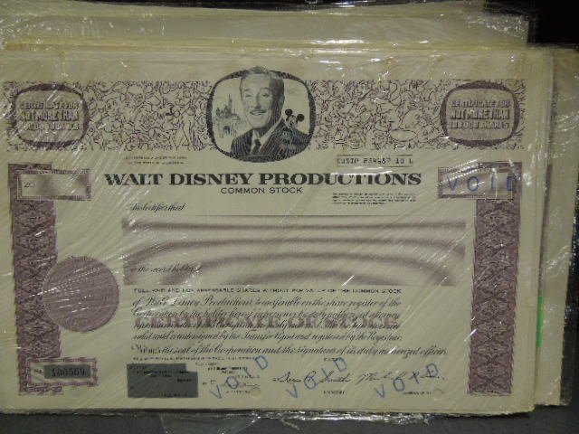30+ WD Productions Common Stock Certificates