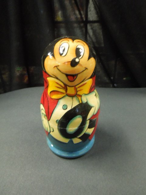 5 Pc Lacquered Disney Nest of Dolls - 3