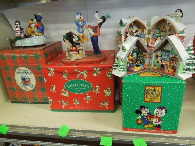 4 Resin Disney Christmas Figurines
