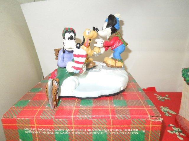 4 Resin Disney Christmas Figurines - 2