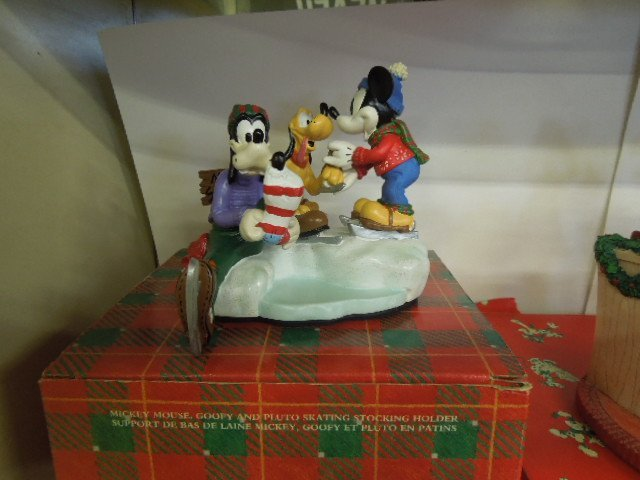 4 Resin Disney Christmas Figurines - 3