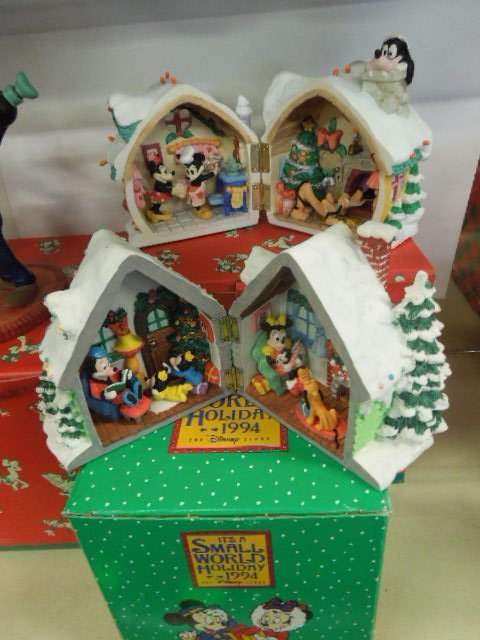 4 Resin Disney Christmas Figurines - 5