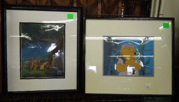 2 Framed Disney Original Pooh Cels