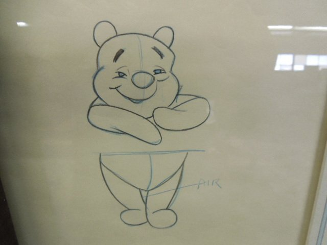 Two Framed Pooh Original Production Drawings - 3
