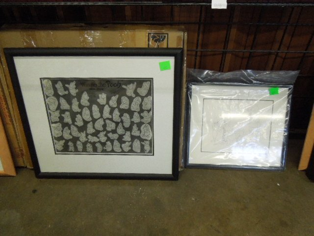 Framed Winnie the Pooh Drawings & Other - 2
