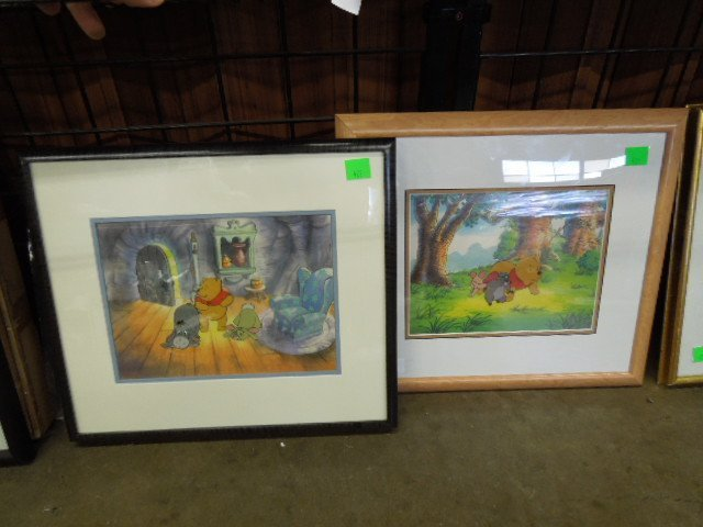 Framed Disney Pooh Original & Sericel
