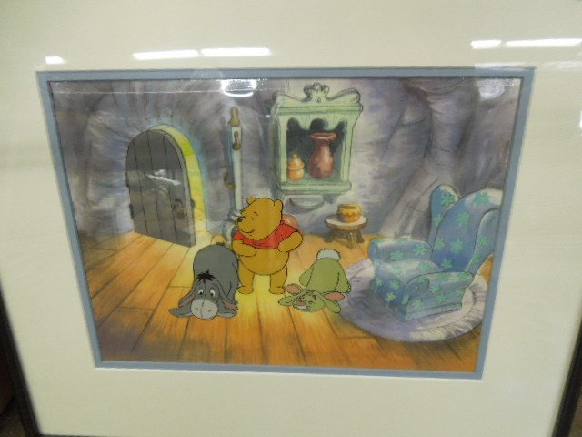 Framed Disney Pooh Original & Sericel - 2