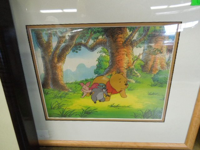 Framed Disney Pooh Original & Sericel - 3