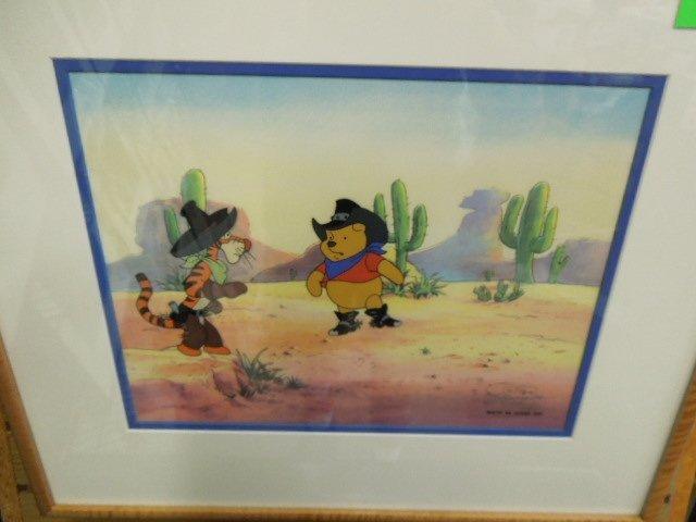 Framed Disney Original Pooh Cel - 2