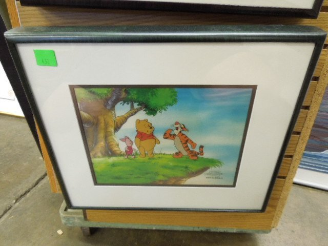 Framed Disney Original Pooh Cel