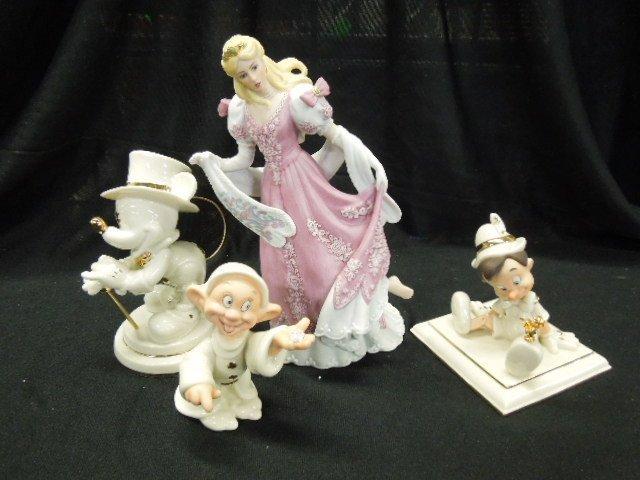 4 Lenox Disney Figurines