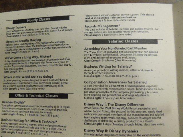 Disney Press packs pamphlets & booklets - 5