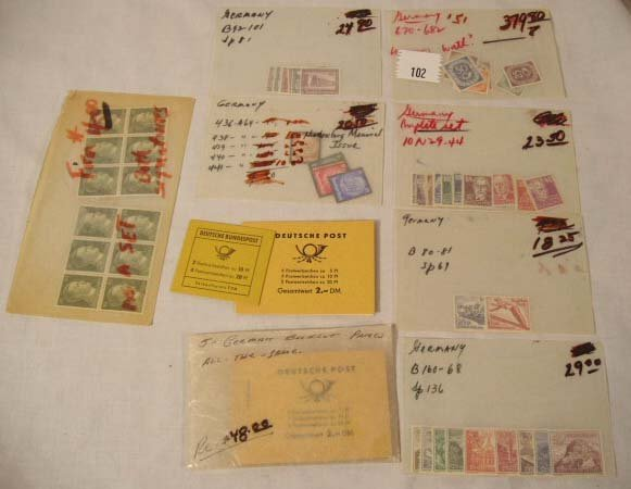 102: German Stamps, Booklets