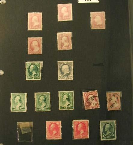 123: Early Washington Franklin Jackson stamps