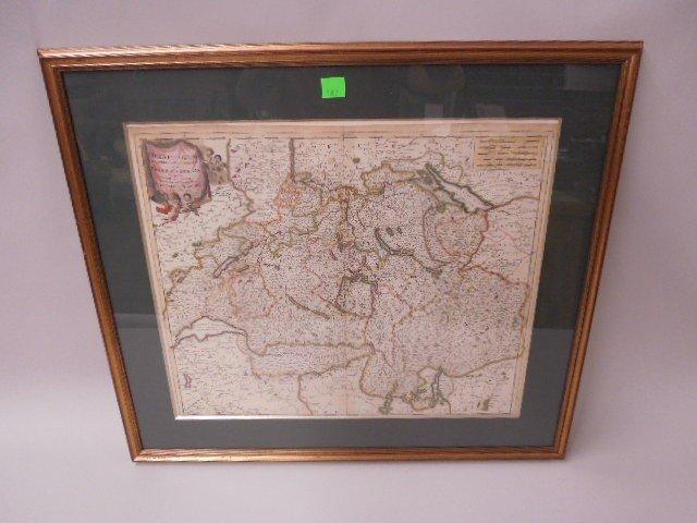 Framed Map of Swiss Republic