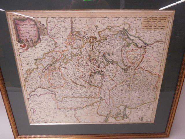 Framed Map of Swiss Republic - 2