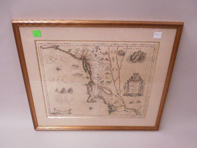 Framed Map of New Netherland