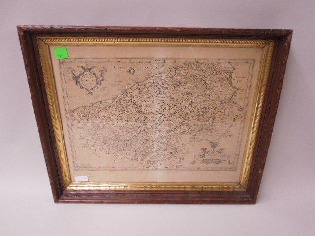 Framed of Map of Flandria