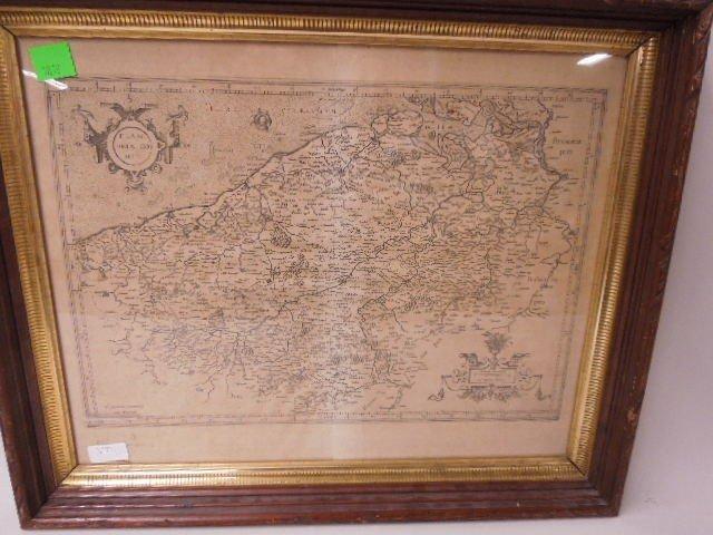 Framed of Map of Flandria - 2
