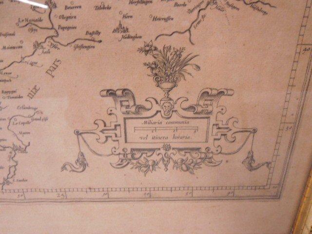 Framed of Map of Flandria - 4