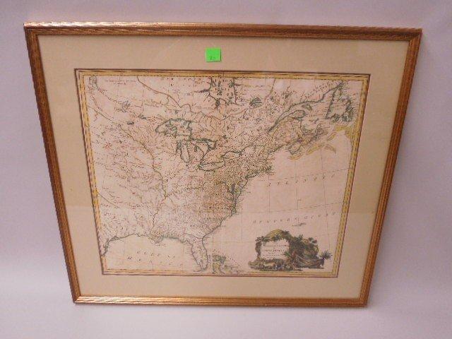 Framed Map British Colonies in N. America