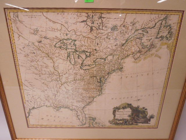 Framed Map British Colonies in N. America - 2