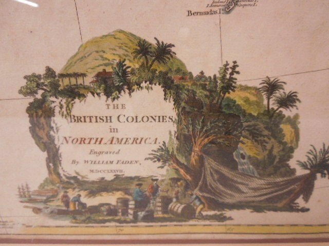 Framed Map British Colonies in N. America - 3