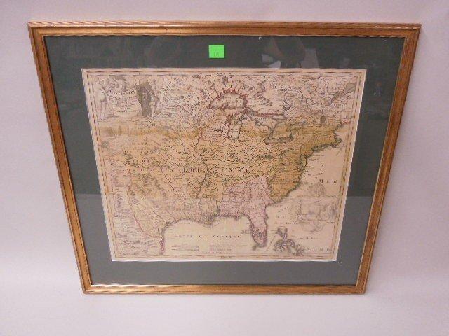 Framed Map Province of Mississippi