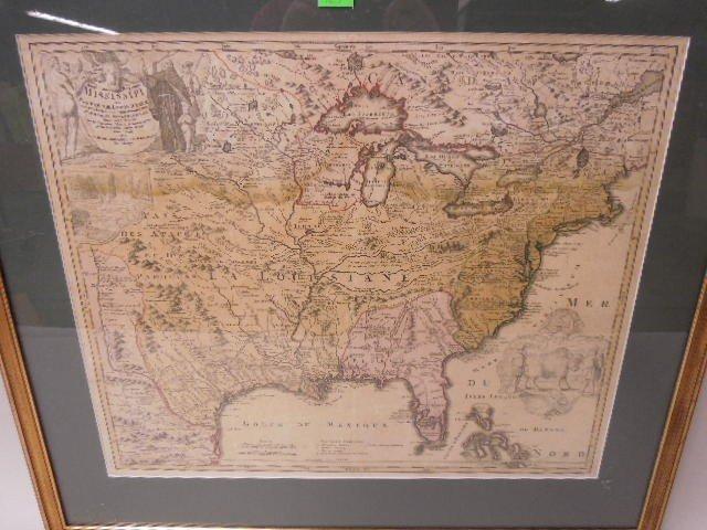 Framed Map Province of Mississippi - 2