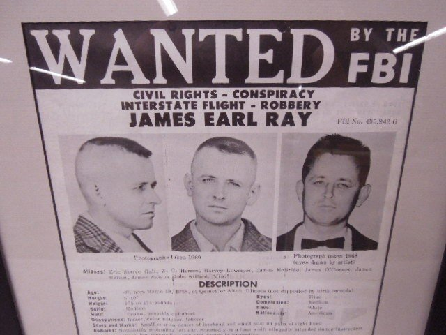 Framed James Earl Ray Wanted Poster - 3