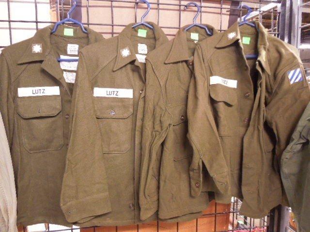 4 US Army Wool Field Shirts