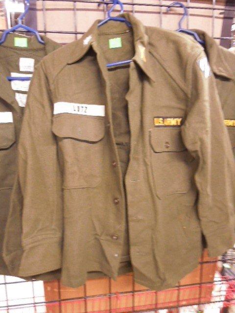 4 US Army Wool Field Shirts - 2