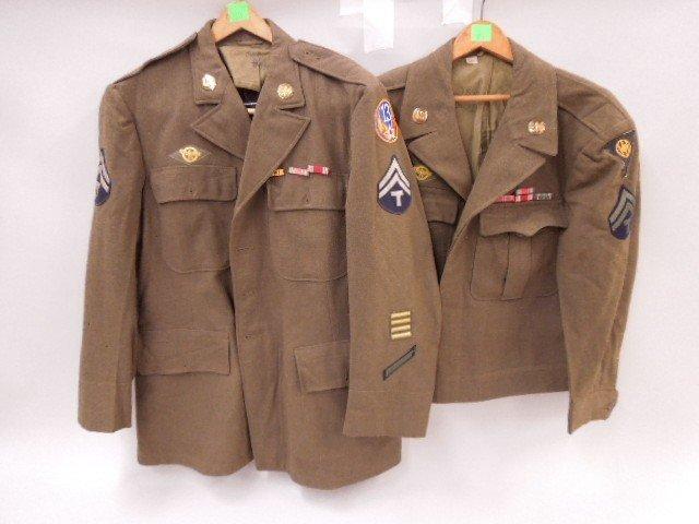 Pr of WW II U.S. Army Uniform Jackets