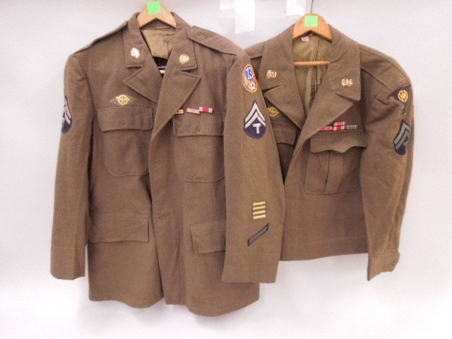 Pr of WW II U.S. Army Uniform Jackets