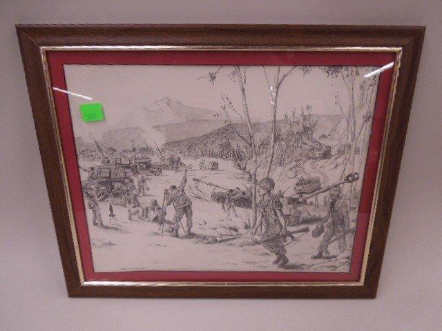 Framed Print Army Maneuvers
