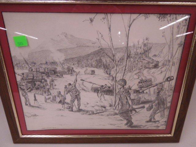 Framed Print Army Maneuvers - 2