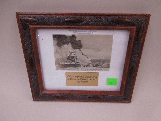 Original Photo of Attack on Pearl Harbor