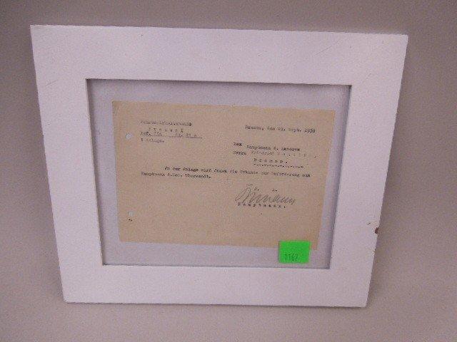 WW II German Promotion Letter