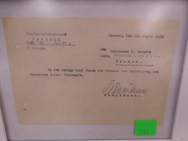 WW II German Promotion Letter - 2