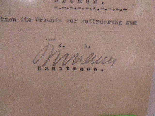 WW II German Promotion Letter - 3