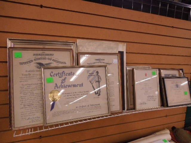 Lot of Military Certificates & Photo