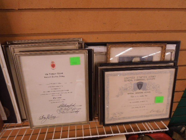 Lot of Military Certificates & Photo - 3