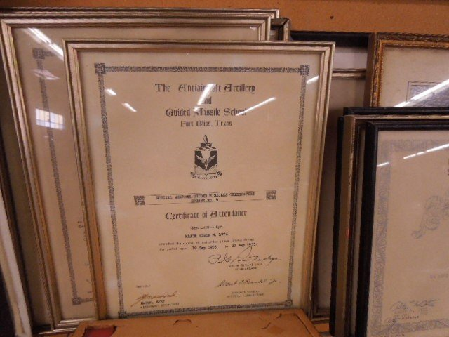 Lot of Military Certificates & Photo - 5